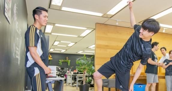 従業員同士のコミュニケーション活性や運動への動機づけに